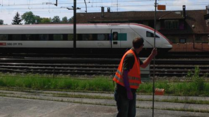 Magnetic flux density measurements along the SBB tracks in Olten